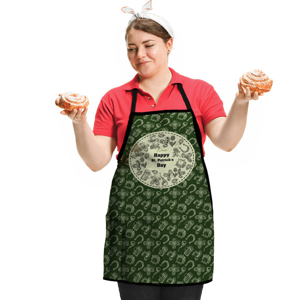 St Patrick's Day - Personalised Adults Apron One