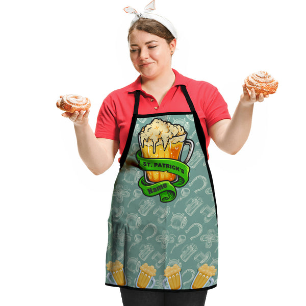 St Patrick's Day - Personalised Adults Apron Two