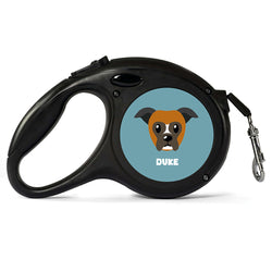 Personalised Boxer Retractable Dog Lead - Large