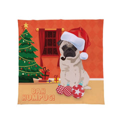 Christmas Pug Fleece Throw | Made In England Gifts