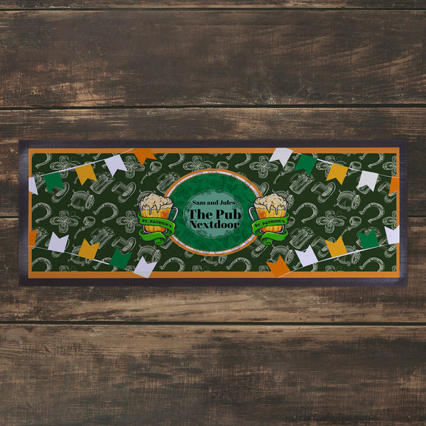 Personalised Bar Runner 3 -  St Patrick's Day