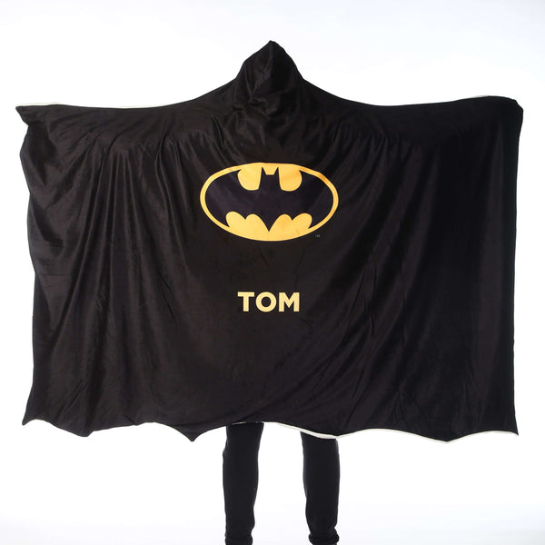 Batman™ Adult Hooded Blanket - Personalised Batman Cape