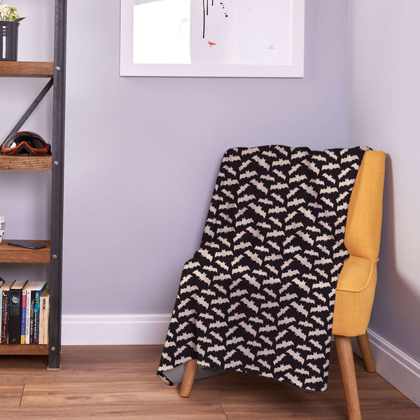 Batman Inspired Bedding - Bat Fleece Throw UK