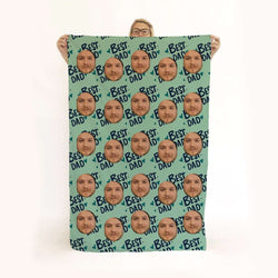 Best Dad - Face Scatter Beach Towel