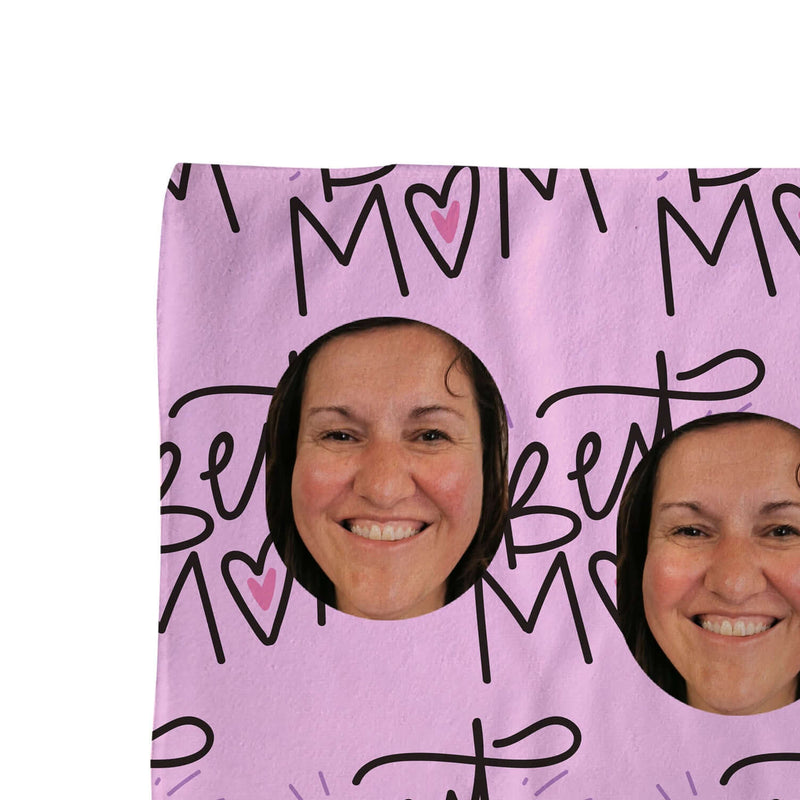 Best Mum - Face Scatter Beach Towel