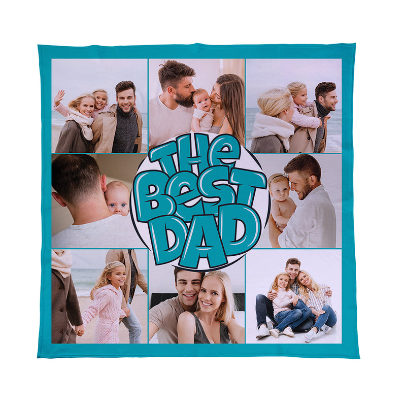 Personalised Dad Photo Fleece Blanket