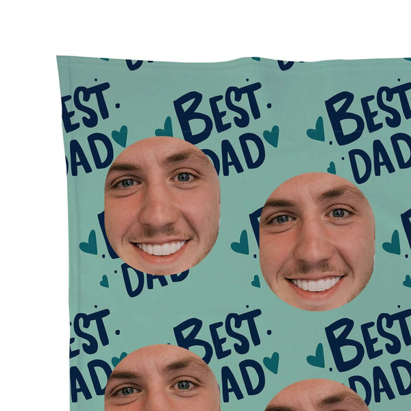 Best Dad - Face Scatter Blanket