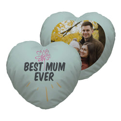 Personalised Heart Photo Cushion | Custom Cushion