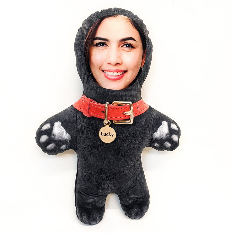 lucky black cat mini me doll