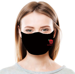 Poppy - Black  Protective Face Mask