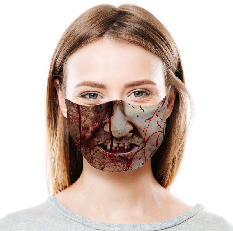 Blood Stained Zombie Protective Face Mask