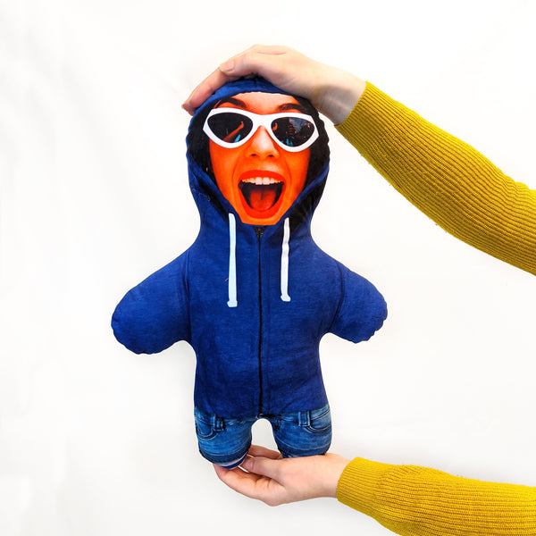 Blue Hoodie Mini Me Doll | Funny Personalised Gifts