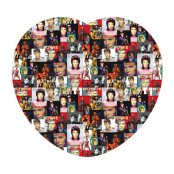 Heart Shaped Cushion - David Bowie Montage