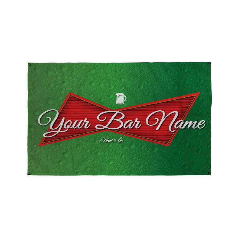 Green Bar Name Banner - 5ft x 3ft | Funny Personalised Pub Sign UK