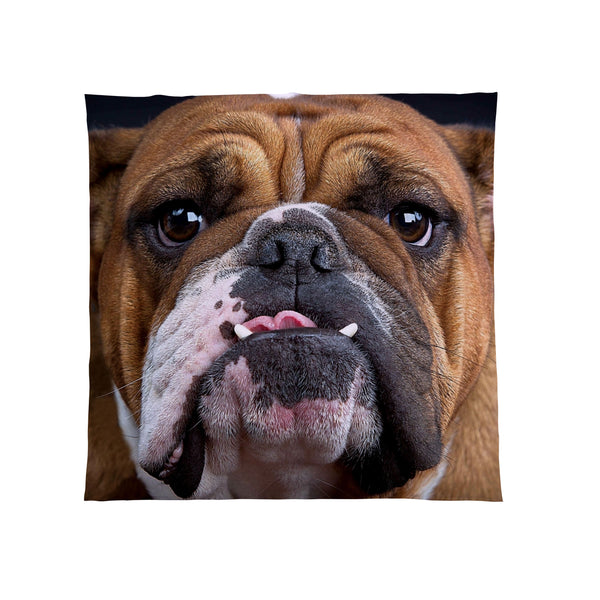 Bulldog Fleece Throw Blanket |Dog Lover Gift