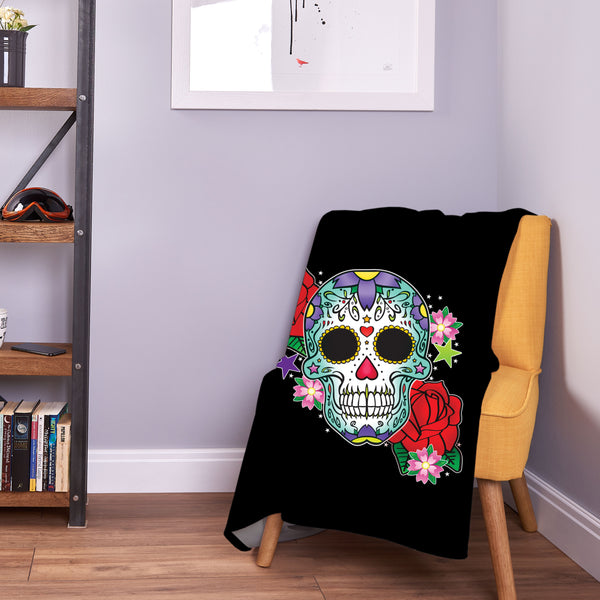 Marigold Skull Bedding | Pretty Skull Blanket