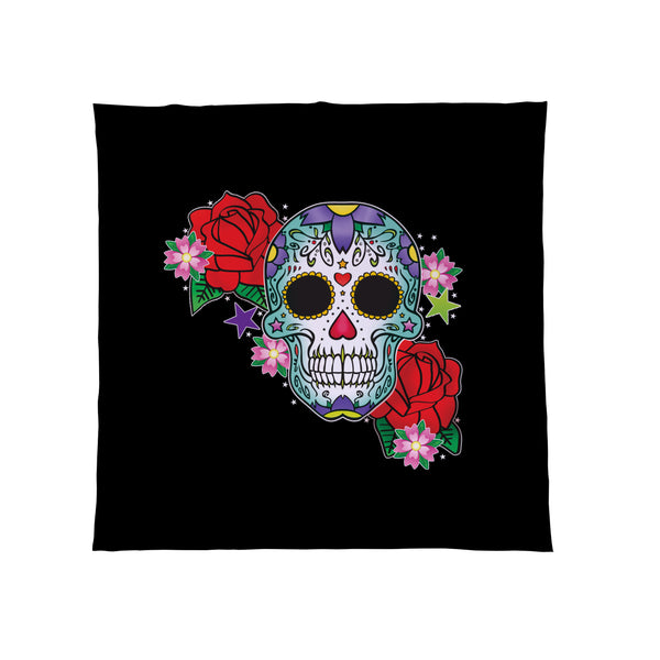 Candy Skull Green - Fleece Throw