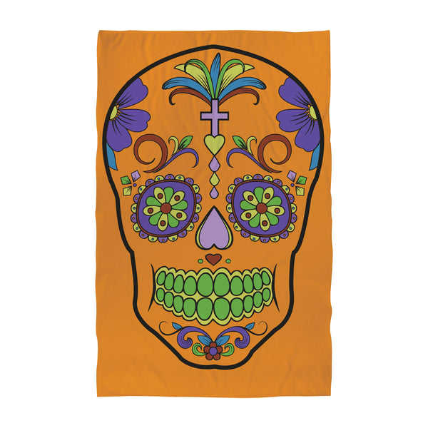 Candy Skull - Orange Towel