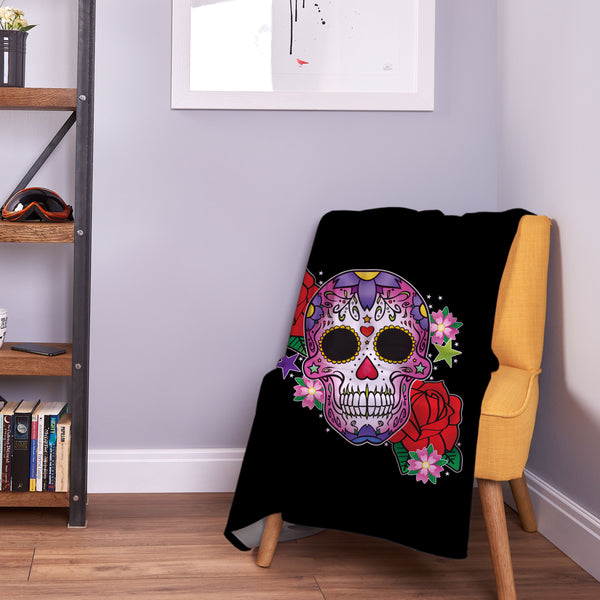 Candy Skull Pink - Fleece Throw