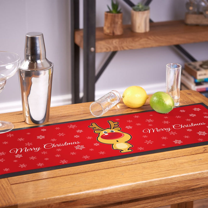 Cartoon Reindeer - Christmas Bar Runner