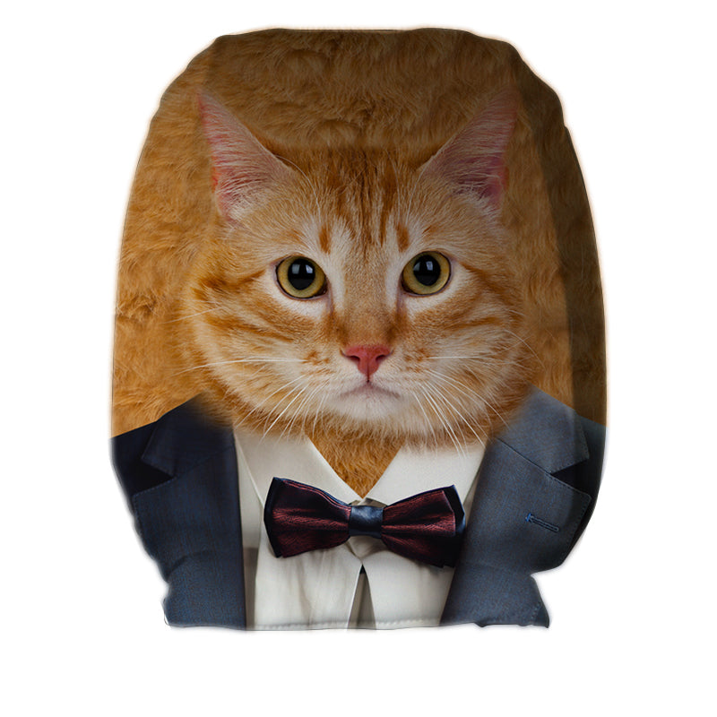 Cat in Suit - Car Seat Headrest Covers
