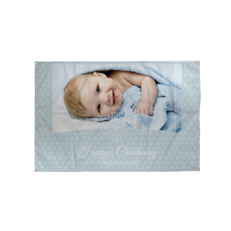 Personalised Photo Christening Banner UK