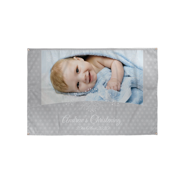 Personalised Photo Christening Banner