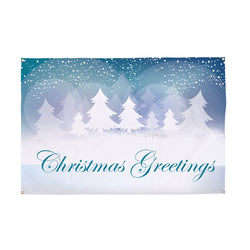 Festive Greetings Christmas Banner - 5ft x 3ft