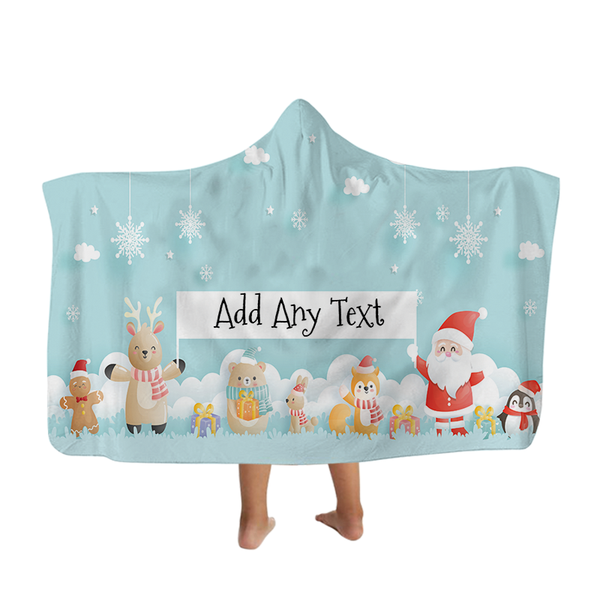 Santa and Friends - Hooded Blanket - Kids