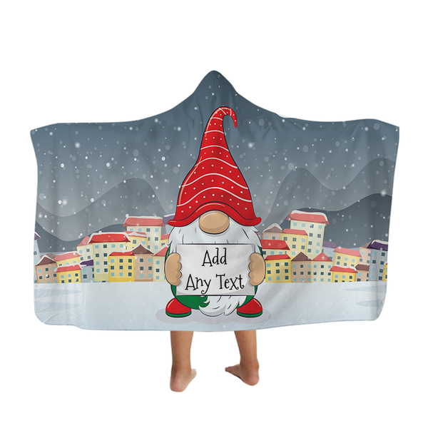 Christmas Gnome - Hooded Blanket - Kids
