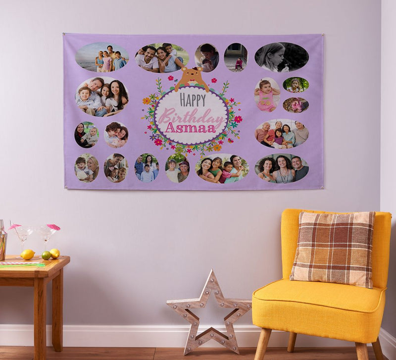Personalised Photo Banner - 5ft x 3ft