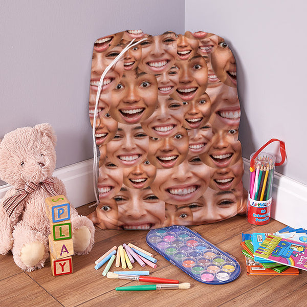 Your Face All Over - Add 2 Faces - Laundry Bag