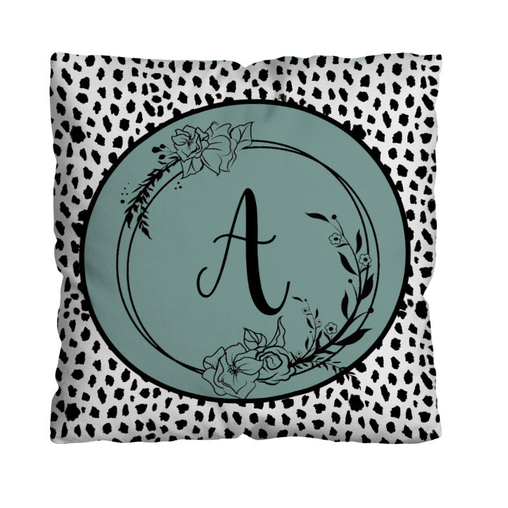 Abstract Black Spot Initial Design - 45cm Cushion