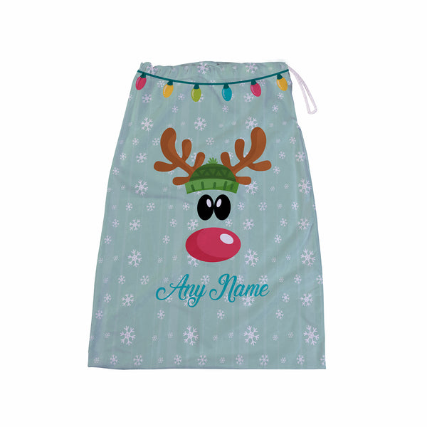 Reindeer Hat - Personalised Santa Sack