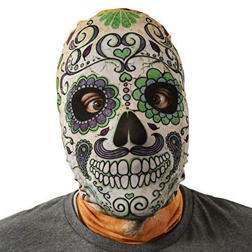 Day Of The Dead Skull Green - FaceSkinz