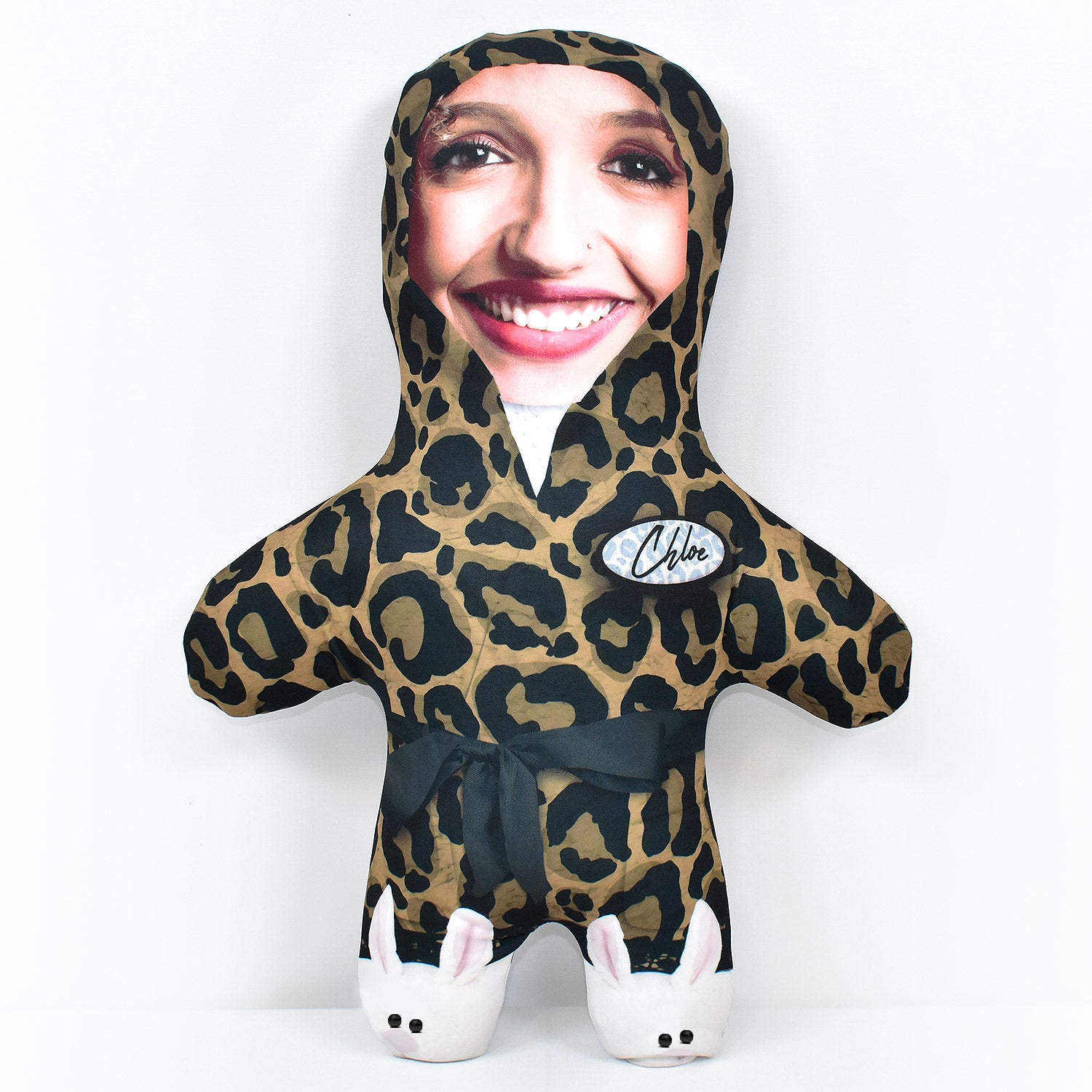 Fluffy Leopard Dressing Gown - Personalised Mini Me Doll