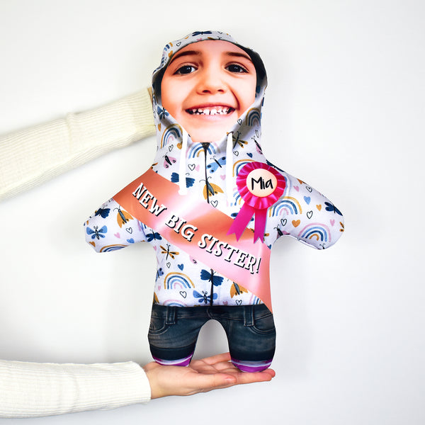New Big Sister Butterfly Hoodie - Personalised Mini Me Doll