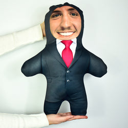 Black Suit Red Tie - Personalised Mini Me Doll