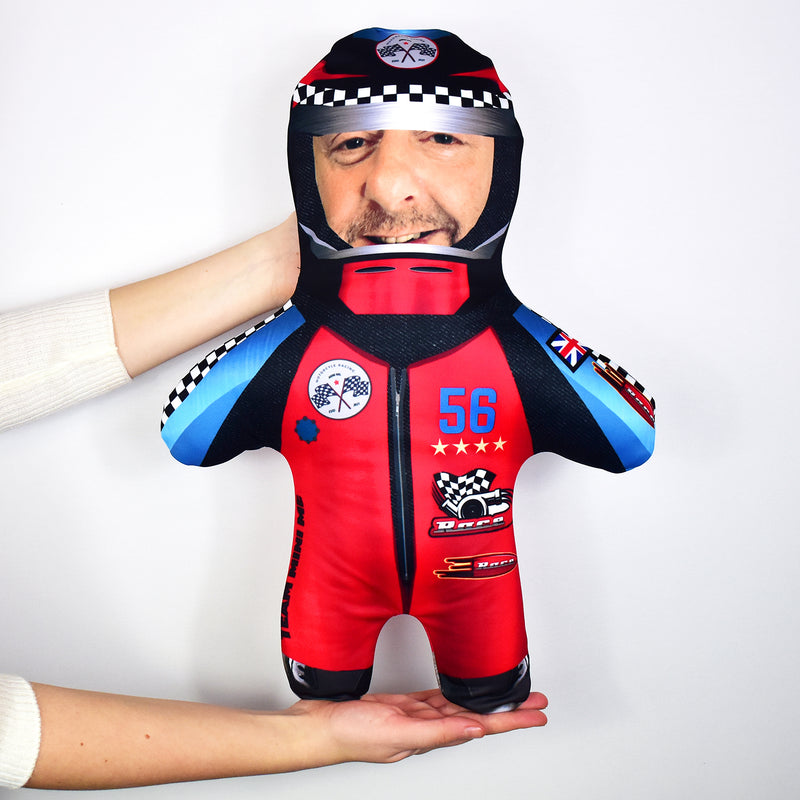 Red Race Car Driver - Personalised Mini Me Doll