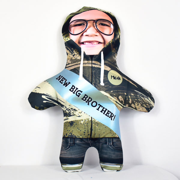 New Big Brother Textured Hoodie - Personalised Mini Me Doll