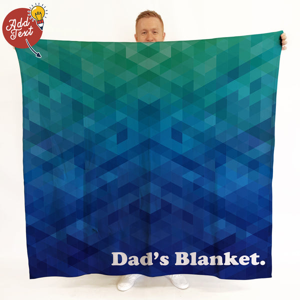 Dads Blanket - Personalised Fleece Blanket