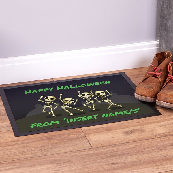 Skeleton Family - Halloween Door Mat