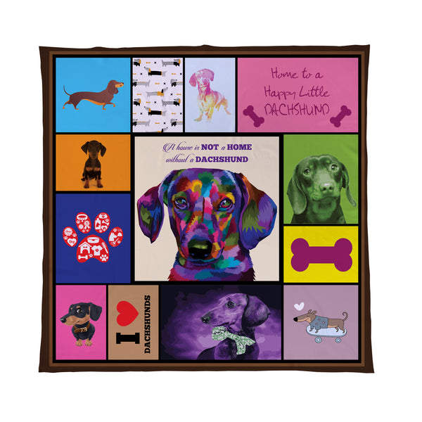 Dachshund - Colourful Pet Blanket