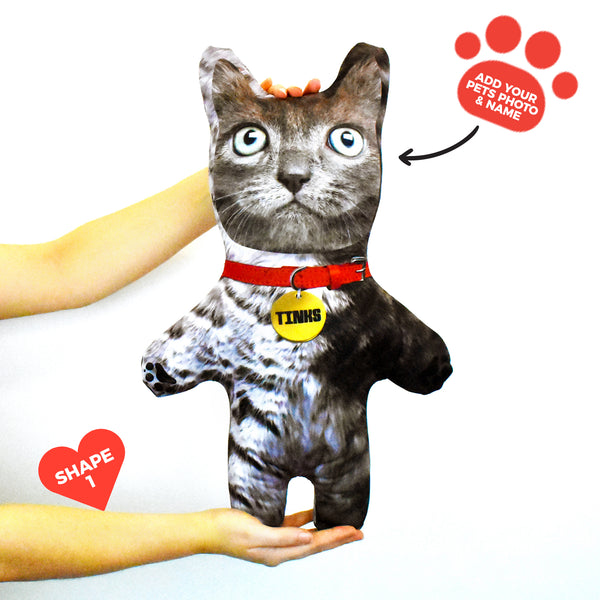 Grey Cat Fur - Personalised Pet Mini Me