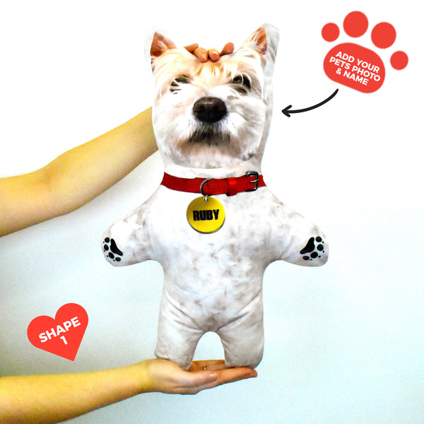 White Dog Fur - Personalised Pet Mini Me