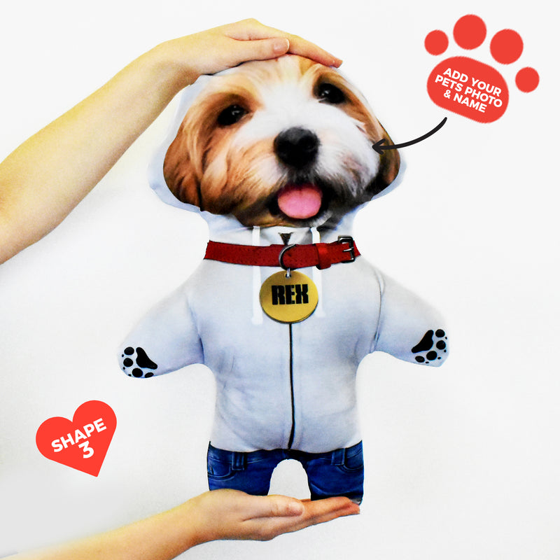 Grey Hoodie - Personalised Pet Mini Me