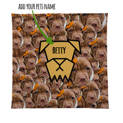 Dog - Face All Over - Personalised Photo Fleece Blanket