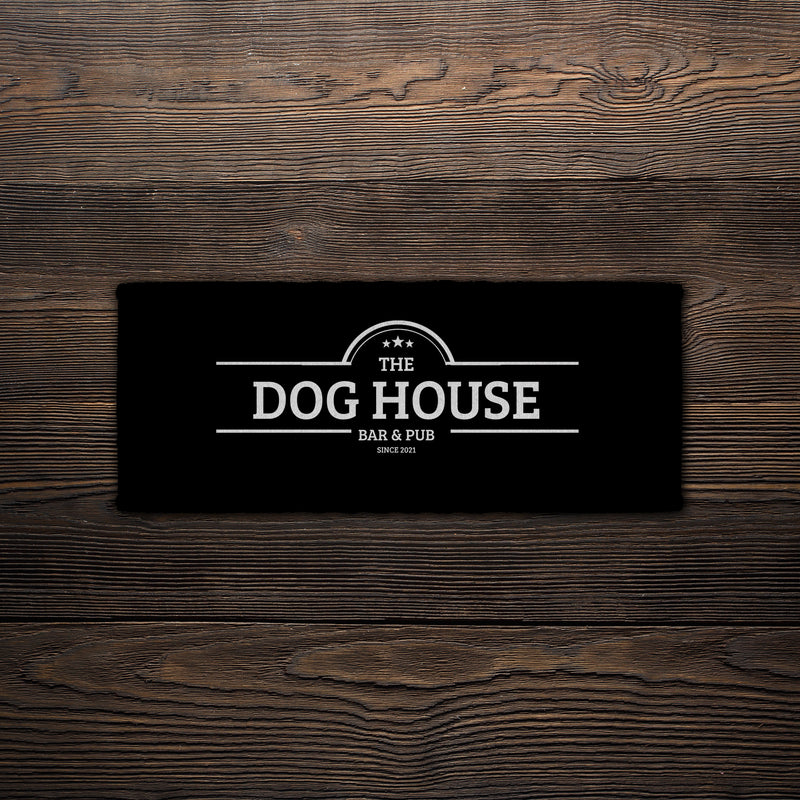 The Dog House - Personalised Bar Towel