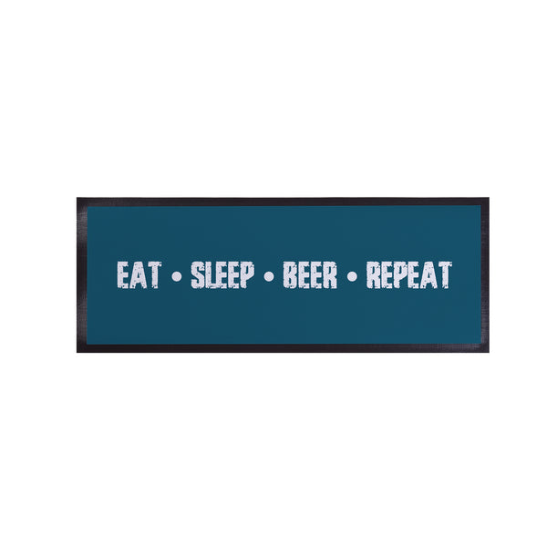 Personalised Bar Runner -  Eat - Sleep - Beer - Repeat