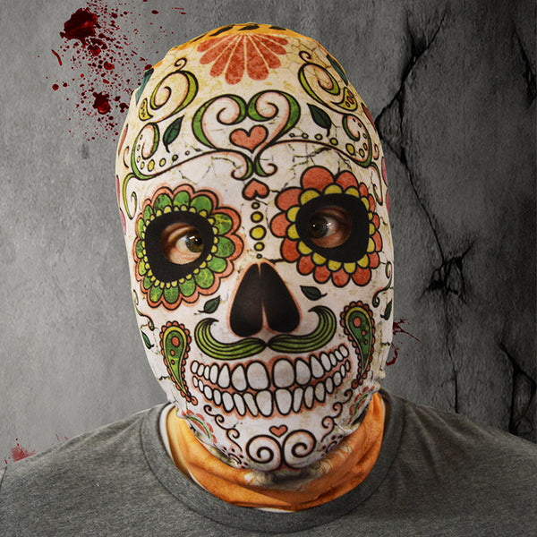 Day Of The Dead Skull Terracotta - FaceSkinz